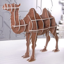 "High-end 51.5"" wooden camel furniture wood book case bookshelf self-build puzzle furniture(China)"