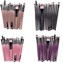 15 pcs/Sets Eye Shadow Foundation Eyebrow Lip Brush Makeup Brushes Tool pincel maleta de maquiagem Professional Makeup Brush Set