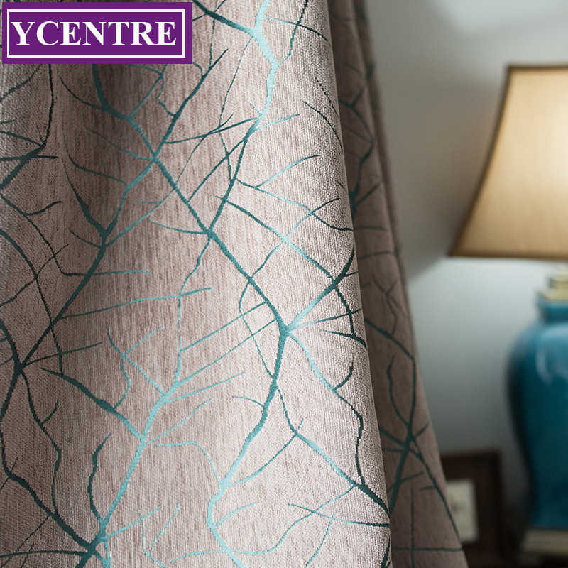 YCENTRE Decorative Window Drapes The Chenille Jacquard Heavy Curtains European Modern Curtains/Rideau Room/Bedroom/Livingroom