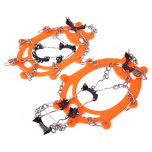 Sports Ice Gripper Anti Slip Ice Cleats Shoe Boot Grips Crampon Chain Spike Sharp Snow Walker for Hiking Climbing