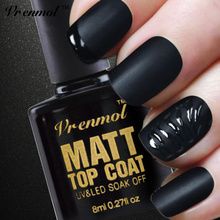 Vrenmol 1pcs Cleaning Matt Matte Top Coat UV Gel Nail Polish Soak Off Transparent Matte Top Coat Frosted Surface Esmaltes