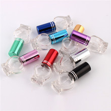 XYZ 9Color Glass 5ml Refillable Portable Heart design attractive Spray Perfume Bottle Empty Mini Cosmetic Containe