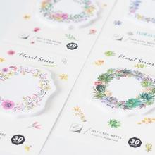 Flowers Garland Section Memo Pad Sticky Notes Memo Notebook Stationery Papelaria Escolar School Supplies