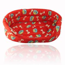 Soft Cozy Puppy Dog Cat Pet Kitten Cushion Basket Pad Bed Sofa Couch Mat Red