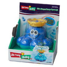 HOT Gift baby bath shower toys rotary automatic sprinkler small octopus / whale swimming toys sassy shower