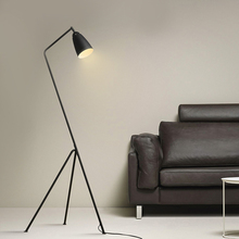 Nordic contracted personality modern sitting room bedroom study Wrought iron Floor lamp(China)