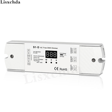 AC100-240V 288W 2 Channel Triac DMX Dimmer, Dual  channel output Silicon DMX 512 controller S1-D