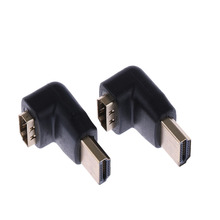 Fashion 1 Pc 90 Degree + 270 Degree HDMI Male to Female Right Angle Adapter Connector Portable Adapter