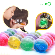 Non-toxic Blowing Bubbles Crystal Mud Super Light Clay Draw Slime Funny Toys Hand-Pulled Noodle Crystal Playdough Mud Toys(China)