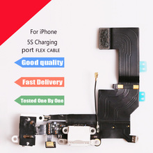 1Pcs x New Charging flex cable For iphone 5s headphone Audio Jack USB Charger port dock connector flex cable
