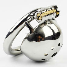 Buy Super Small Male Chastity Device 35MM Adult Cock Cage Urethral Catheter BDSM Sex Toys Stainless Steel Chastity Belt