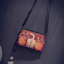 2016 New Lady Handbags Graffiti Printed Multicolor Envelope Bag Women Clutch Shoulder Messenger Bag HBC105