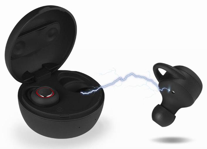 New TWS True Wireless Stereo Bluetooth Earphones with charge Box CSR 4.2 Handsfree headset Dual bluetooth Earbuds<br>
