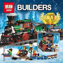LEPIN 36001 770Pcs Creative Series The Christmas Winter Holiday Train Set Building Blocks Bricks Children Educational Toys 10254(China)