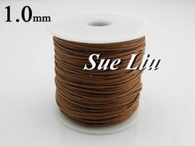 1mm 80M/spool Warm Brown Waxed Cotton Cord Wax Bead String NCK10,  87yds=80m=260ft