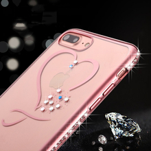 RoseGold Crystal Phone Cases For iphone 7 Ultra Thin Clean Soft TPU Plating Glitter Diamond Cover For iphone 7 7 Plus 6 6s Plus