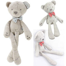 42cm Baby plush bear sleeping comfort doll plush toys Stuffed Animal Toys Smooth Obedient bearSleep Calm Doll Kid Nice Gift