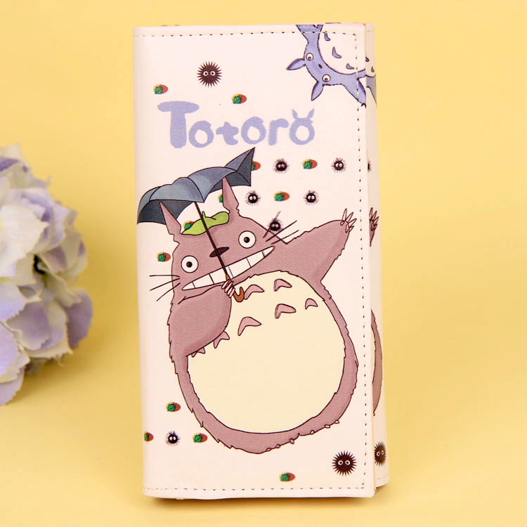 Cartoon My Neighbor Totoro Women Wallets PU Leather Students Wallet Cards Holder Women's Clutch Hasp Coin Purse Money Bags 12