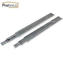 "Probrico 5 Pair 16"" Soft Close Ball Bearing Drawer Rail Heavy Duty Rear/Side Mount Kitchen Furniture Drawer Slide DSHH32-16A"