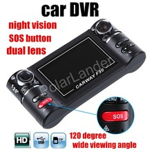 F30 Dual Cameras Car DVR Recording HD SOS Emergency Button 2.7 inch LCD Screen 120 degree wide viewing angle hot sale