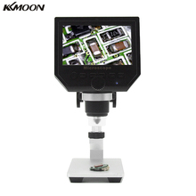 "600X 4.3"" LCD Display Microscope Zoom 3.6MP Portable LED Digital Video Microscope With Aluminum Alloy Stent for BGA Reballing(China)"