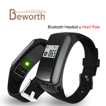 F50 Smart Band Bluetooth Headset Heart Rate Monitor Earphone Smartwatch Wristband Bracelet Sport Watch Smartband For IOS Android