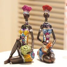 Exotic style ornaments arts craft suit resin fairy Creative accessories garden decoration ornaments African figure souvenirs dol