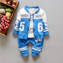 New Spring 2016 collection Boy / autumn fashion cotton long-sleeved pants suit three boy's casual clothing Free Shipping