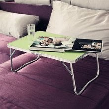 Bed folding computer desk, home notebook computer desk, outdoor simple desk, aluminum table(China)