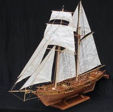 NIDALE model Free shipping Scale 1/96 Classics Antique wooden sail boat model kits HARVEY 1847 wooden Ship Assembly kit