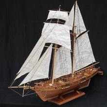 NIDALE model Free shipping Scale 1/96 Classics Antique wooden sail boat model kits HARVEY 1847 wooden Ship Assembly kit(China)