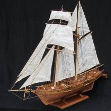NIDALE Battleship Model-Kits Scale Sailboat-Model Wooden HARVEY 1/96 Classics Antique