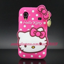 For Samsung Galaxy Ace S5830 Case 3D Silicon Hello Kitty Soft Cell Phone Back Cover for Samsung Galaxy Ace S5830 GT 5830 S5830i