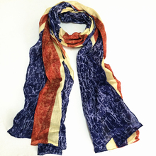 2015 new fashion business casual cotton unisex British Union Jack flag scarf
