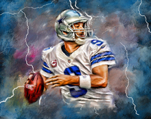 "36 "" TOP Original ART oil painting # Tony Romo, Dallas Cowboys, Quarterback, Football, Sports -100% hand painted OIL painting(China)"
