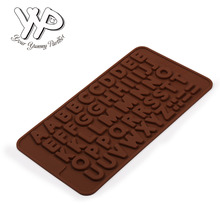 YYP 20 Pack Letters ABC Mold DIY Bakeware Tool Silicone Handmade Pop Sucker Sticks Lolly Candy Chocolate Mold With Sticks Shape