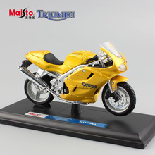 Brand 1/18 scale Children TRIUMPH DAYTONA metal model motorcycle toys sport race cars Diecasts & Toy Vehicles for kids boy gold