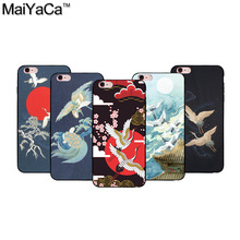 MaiYaCa  The latest crane series Black Soft TPU silicone Phone Case Accessories Cover For iPhone 6 case
