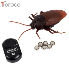 TOFOCO Free Ship Remote Control Cockroach Real Looking Toy RC Infrared BIRTHDAY GIFT Novelty Shocker Gags Practical Jokes Prank(China)