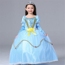 Classic Girls Dress Aurora Princess Dress Kids Girls Princess Dress Elsa Anna Party Performance Aurora Dress Children Costume