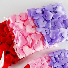 100pcs/bag Love Heart Petals Wedding Valentines Day Throwing Table Decoration Party Supply 3.5*3.5cm D4(China)