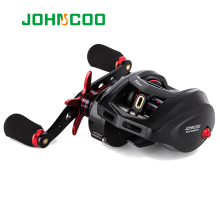 JOHNCOO Bait Casting Reel Big Game 13kg Max Drag Saltwater Fishing Reel Light Weight 11+1 BB 7.1:1 Aluminium Alloy Body Jigging