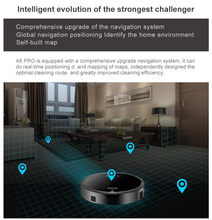 Smart Plan type Robotic Vacuum Cleaner with Wifi A6 Dry and Wet ROBOT for Home(China)