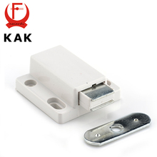 KAK Cabinet Catch Kitchen Door Stopper Drawer Soft Quiet Close Magnetic Push to Open Touch Damper Buffers For Furniture Hardware(China)