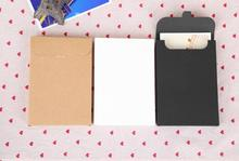 500Pcs 10.8*15.5*1.5cm Kraft Paper Envelope Invitation Card Letter Stationery Package Box Gift Greeting Card Postcard Photo Box