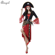 Adogirl New Halloween Costume Pirates Of The Caribbean Party Clothes Female Models Performance Clothing Deguisement Adulte Latex