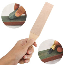 Buy Wood Handle Double Sided Grinding Stone Polishing Knife Board Cut Leather Blade Sharpening Tool DIY Handmade Craft Accessories for $4.99 in AliExpress store