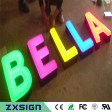 Factory Outlet the front lit acrylic LED sign for store, restaurant, coffee shop, office, company name advertising signboards(China)