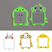 1pc Cute Cartoon Luminous Switch Stickers Wall Stickers Switch Cover Creative Living Room Bedroom Socket Decoration