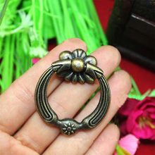32mm*42mm Vintage Drawer Knob Kitchen Cabinet Hardware Pull Ring Knob / Closet Dresser Cupboard door handle pull